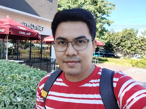 Selfie with the Realme 5 Pro.