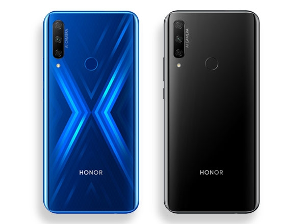Color options for the Honor 9X.