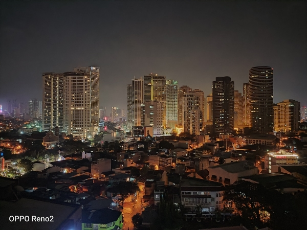 Makati skyline at night by OPPO Reno2 with Night mode.