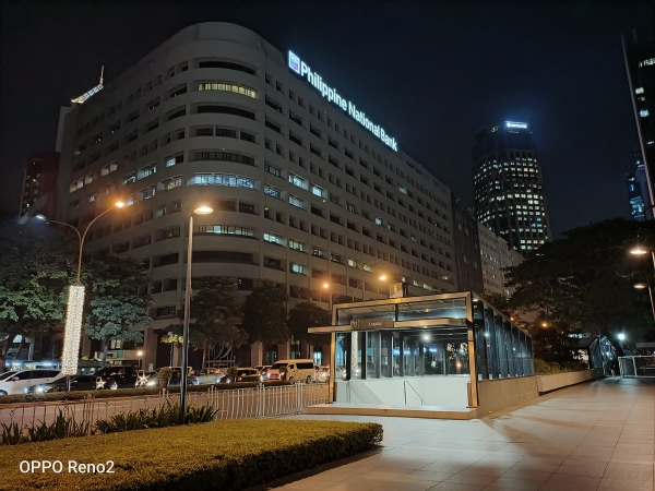 Underpass and PNB building by OPPO Reno2 with Night mode.