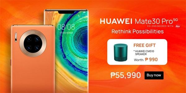 Huawei Mate 30 Pro 5G promo on Lazada.