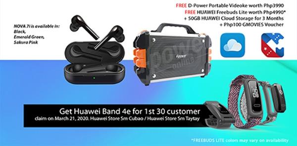 Huawei nova 7i Freebies
