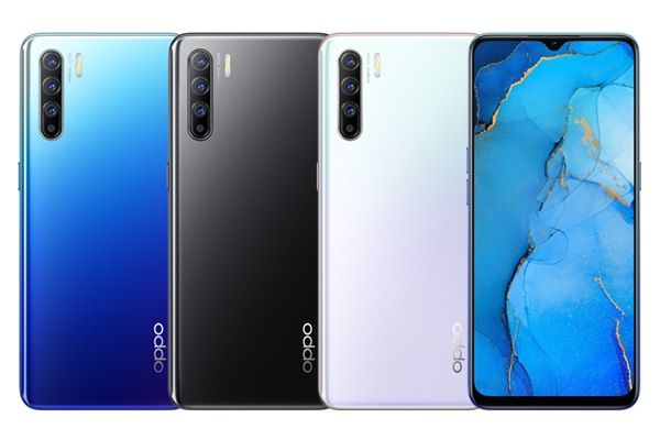 OPPO Reno3 color choices.