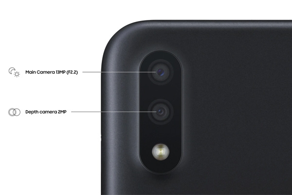 Samsung Galaxy A01 rear cameras.