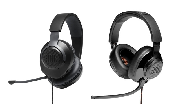 The JBL Quantum 100 (left) & JBL Quantum 200 (right) headphones.