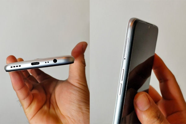 Ports & buttons of the realme 6i.