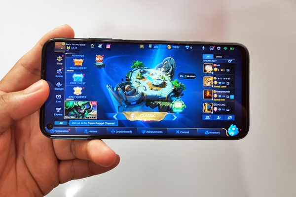 Mobile Legends on the Huawei nova 7i.