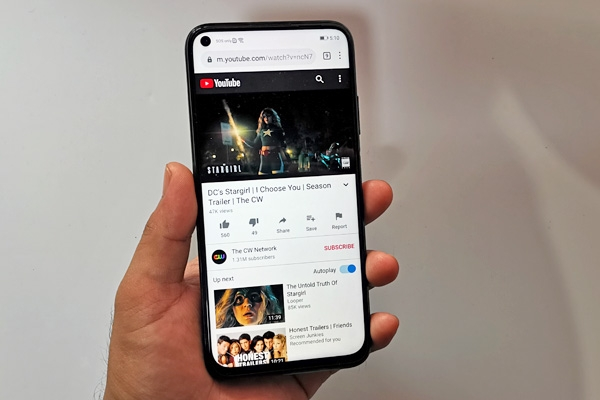 YouTube on the Huawei nova 7i.