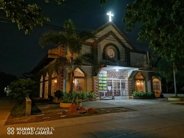 Huawei nova 7i sample picture (church, night mode).