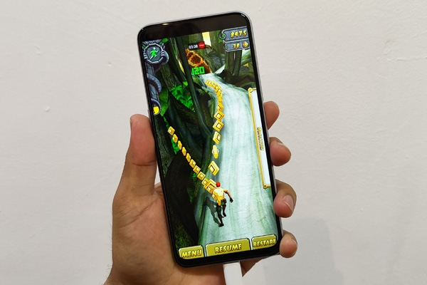 Temple Run 2 running at 120 FPS on the realme X3 SuperZoom.