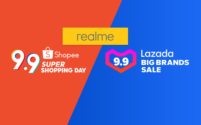 realme 9.9 Sale on Lazada and Shopee!