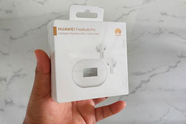 The Huawei Freebuds Pro box.