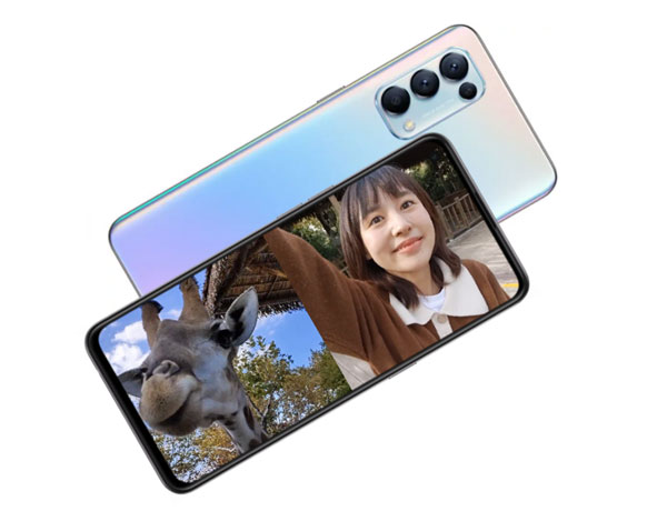 Dual View video feature of the OPPO Reno5 5G smartphone.