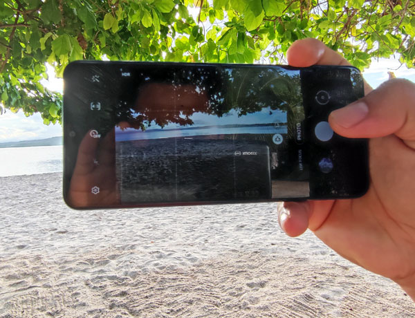 The camera app of the Samsung Galaxy A12.