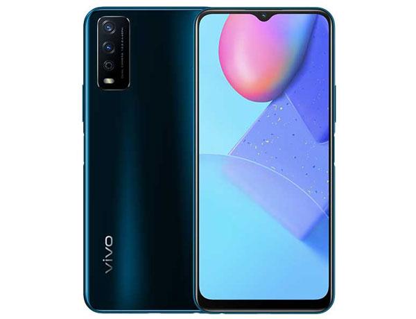 The vivo Y12s smartphone in Phantom Black color.