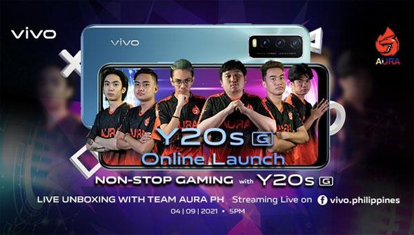Team AuraPH with the vivo Y20s [G].