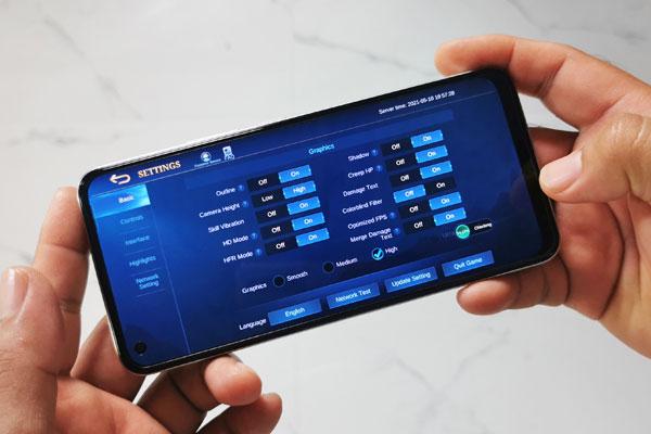 Mobile Legends on realme 8
