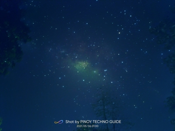 realme 8 sample picture (night sky, starry night mode).