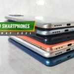 Top 10 smartphones in May 2021.