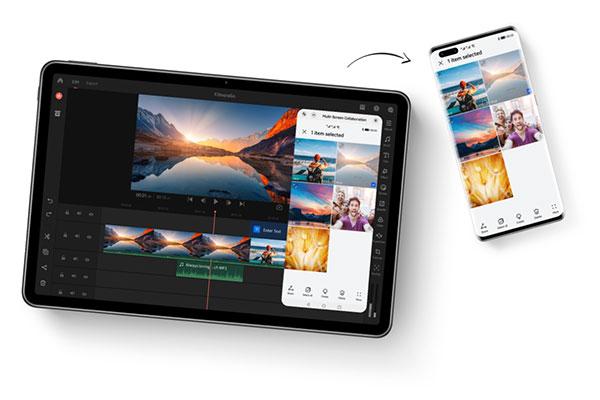Huawei Share on the Huawei MatePad 11.