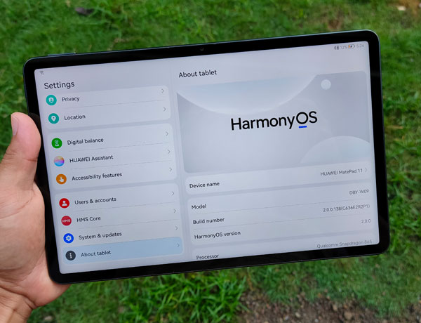 HarmonyOS on the Huawei MatePad 11.