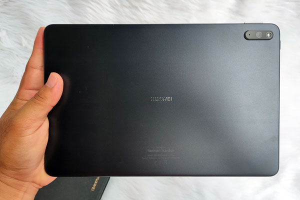 The back of the Huawei MatePad 11.