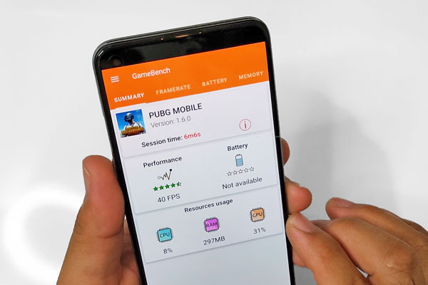 PUBG Mobile frame rate on the realme GT Master Edition.