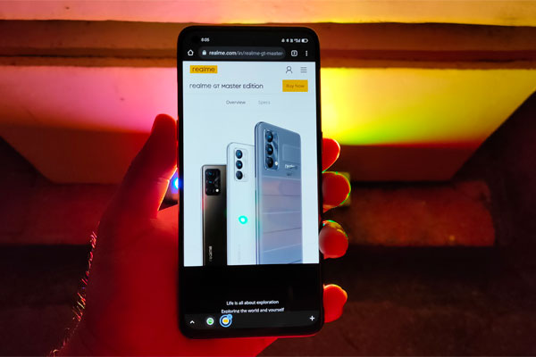 The realme GT Master Edition also comes in Voyager Gray with vegan leather back.