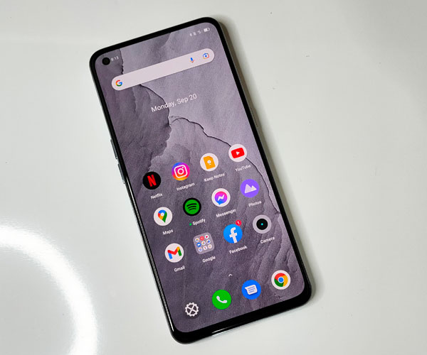 Home screen of the realme GT Master Edition.