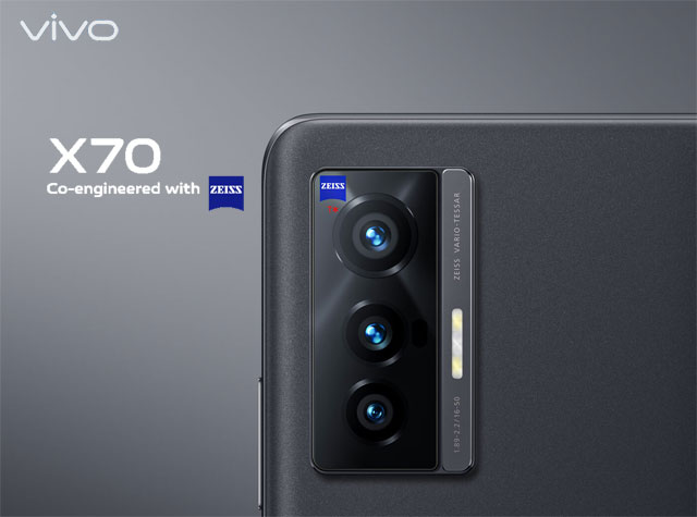Meet the vivo X70 smartphone with its ZEISS cameras!